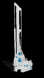 буровая установка - схема размещения редукторов